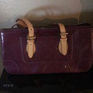 Purple LV purse